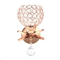 Wholesale Modern Luxury Crystal Pendant Wall Lamp Bedside Bedroom Stair Lamp Gold Color Indoor Decorative Lighting Durable Material order lt no track
