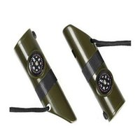 Wholesale 5 cm Multifunction whistle seven in one survival whistle portable powerful outdoor tool supply