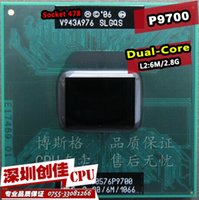 Wholesale Shipping free For intel cpu laptop Core Duo P9700 CPU M Cache GHz Dual Core Laptop processor for PM45 GM45