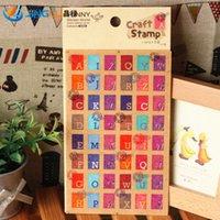 Wholesale Korea Pattern Funny Decorative Paper Sticker Alphabet Two Letters Into