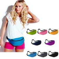 Wholesale 9 Colors Unisex Sports Running Gym Bum Bag Travel Money Storage Pouch Waist Belt Pack Zip
