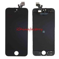 Cheap iPhone 5 5s LCD Touch Screen Panel - Front Assembly LCD Display Touch Screen Panels Digitazer Replacement Part for iPhone 5 iPhone 5S 5c