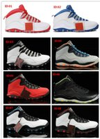 Wholesale 2015 Retro J10 Lady Liberty Red Cement CHI Men Basketball Shoes X Sports Shoes Basketball Sneakers For Sale With Size US7