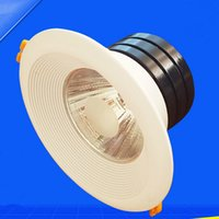 Wholesale 2015 New Super W Dimmable LED COB Ceiling Light Cool White Pure White Warm White Recessed LED Down Light AC V