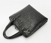 Wholesale 100 Genuine Leather Crocodile Grain Men Bag Cowhide Leather Men s Handbags Casual Business Shoulder Bag Briefcase