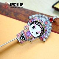 Wholesale Q version of Peking Opera bookmarks cloisonne metal handicrafts Chinese wind characteristics gifts custom LOGO
