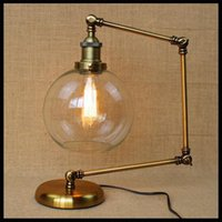 Wholesale AC100 V vintage neo classical American bar iron adjustable bed study bedroom Hall Desk decoration table lamp escritorio