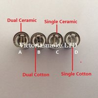 vase ceramic - Cheapest Dual wax coils for cannon vase bowling atomizer dual coils wax oil Ceramic rod wax for Glass metal vase Cannon Bowling atomizer