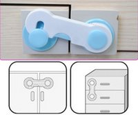 Wholesale 50pcs Door Drawers Wardrobe Kids Baby Safety Plastic Lock For Toddler Child Cabinet Door Closer Mix order