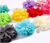 Wholesale cm Colors DIY Solid Chiffon Flower Girl Baby Hair Infant Hairband Handmade Rosettes Headband Accessory T5009