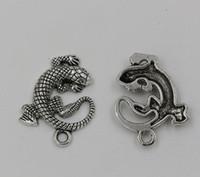 Charms animal charms - 30 Tibetan Silver Lizard Animal Charm Pendant mm