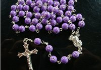 christian - 2015 Fashion Rosary Beads Jesus Necklace Pendant Christian Christianity Long Cross Necklaces Pendants Women Girls Jewelry
