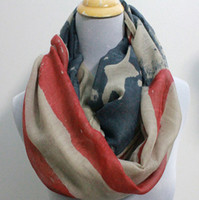 american beachwear - Multi function New American Flag Infinity Scarf Circle scarves Loop scarf Ring