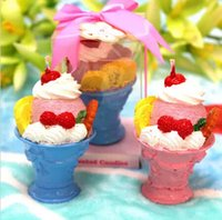 baby shower fruit - 10pcs Fruit Ice Cream Candle Wedding Baby Shower Birthday Souvenirs Gifts Favor