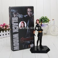 Wholesale 7 quot CM Crazy Toys Marvel The Avengers Black Widow PVC Action Figure Collection Model Toy