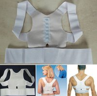 Wholesale Power Magnetic Posture Sports Back Supports Chiropractic Vest BeltMagnetic Back and Shoulder Supports Men Women Back Braces Magnetic Therapy