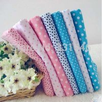 baby blue table cloth - Pink Blue cm Dot Plain Cotton Patchwork Fabric Set Diy Handmade Sewing Craft Baby Toy Table Cloth Home Textile