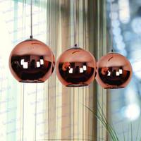 Wholesale Tom Dixon Copper Fashion Glass Ball Bubble Best Ceiling Lighting Pendants Lamp E27 V V Gold Copper Silver Multi Size