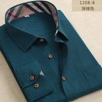Wholesale Classic casual business Mens shirts fashion long sleeve dress shirts famous brand casual shirts men