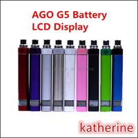 Cheap AGO G5 Battery LCD Display Battery 510 Thread Battery for E Cigarette AGO G5 Atomizer Herb Vaporizer CE4 CE5 CE6 VIVI NOVA Protank MT3 Tank