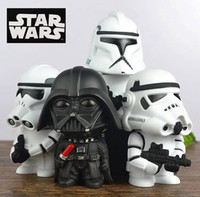 bank star wars - Star Wars action figures Plastic quot Statues Decoration Ruggedness Piggy Bank Darth Vader Stormtrooper Cartoon deco gifts for boys