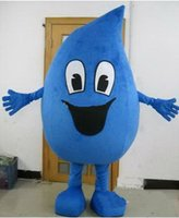 angels mascot costumes - adult blue Water drop Mascot costumes Fancy dress Cartoon Costumes