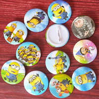 Wholesale 3cm inch minion Me2 theme cartoon plastic safety pin decorate badges kids party favor