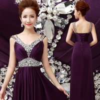 Wholesale New Arrival Formal Bridesmaids Dresses With Criss Cross Straps And Crystals Formal Evening Dress Prom Party Gowns Cheap
