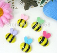 Wholesale 2014 New Lovely Resin Cute Bee Animal Jewelry Finding DIY Hair Accessories