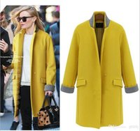 Wholesale Fashion Women Ladies Cashmere Wool Long Parka Coat Winter Trench Outwear Jacket