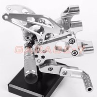 Wholesale A New CNC Rearsets Adjustable Foot Rests Rear Set Silver For DUKATI Panigale S R Motorcycle Foot Pegs