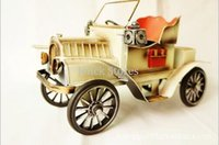 antique german china - Creative gifts business gifts red German vintage steam cars crafts ornaments white