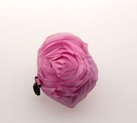 Wholesale Hot Pink Color Pretty Rose Foldable Eco Reusable Shopping Bag cm x38cm