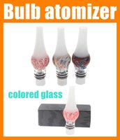 Replaceable glass domes - Glass tank dry herb atomizer globe dome bulb clearomizer colorful Wax Vaporizer herbal vaporizers electronic cigarettes vapor free shipAT125