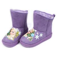 child boots - Fashion Frozen Children Girls Winter Snow Boots Purple Hot Pink Elsa Boot Shoes For Christmas Children s Warm Boots