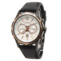 designer watches - New CURREN Fashion Men Watches Silicone Watchband Stainless Steel Case Designer Men s Sport Quartz Fashion Casual Wrist Watch