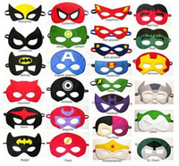 batman paper - Superhero mask Superman Batman Spiderman Hulk Thor IronMan Flash Captain America Wolverine cosplay eye mask Cartoon party Mask Half Mask