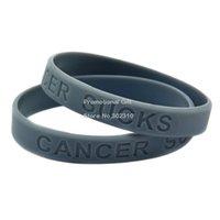 awareness logos - Shipping Cancer Sucks Silicon Wristband Cancer Awareness Bracelet Debossed Logo Multicolours Adult Size