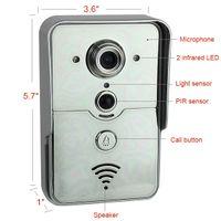Wholesale 720P WIFI Door Bell Wireless Intercom Camera Unlock Alarm Doorbell Support IOS Android F4370B