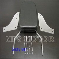 ace sissy bar - Motorcycle Skull Backrest Sissy Bar Leather Pad For Honda Shadow ACE