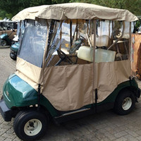 Wholesale US Stock High Quality Passenger Golf Cart Cover For Yamaha Khaki Cover Protect Against Rain Sun US51