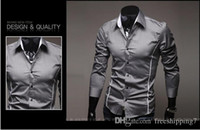 Wholesale Mens Shirts Hot Selling New Mens Fashion Luxury Stylish Casual Designer Dress Shirt Muscle Fit Shirts colors Sizes