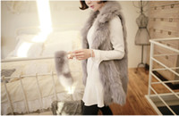 Wholesale The new celebrities fashion charming imitation fox fur fur waistcoat lapel long vest