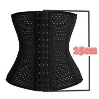 Wholesale Hot sale fashion Spiral Steel Boned Breathable Underwear belt Waist Trainer Body Shaper Black Beige Size S XL