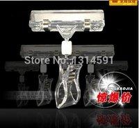 Wholesale POP clips cm Plastic transparent advertising display sign holder price tag display racks holder