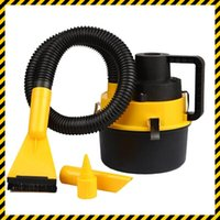 high power vacuum - Car Vacuum Cleaner High Power V Portable Wet Dry amphibious Handheld Mini Car Vacuum Cleaner Inflator Pump with Brush Crevice Nozzle Head