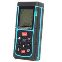 Wholesale 100 Meters RZ100 Laser Distance Meter Laser Digital Range Finder Rangefinder Tape Measure with Bubble Level Tool CJY06H order lt no tra