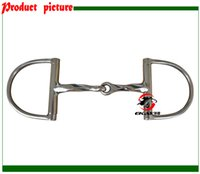 Wholesale SS Bristal King Dee bit slow twisted jointed mouth Horse product horse racing product BT0407