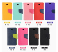 Cheap Mercury Wallet leather PU TPU Hybrid Soft Case Folio Flip Cover for iPhone 4 4s 5 5s 6 6s Plus with Package