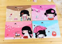 Wholesale 2016 New japanese girl A4 documents PVC file bag File folder stationery Filing Production